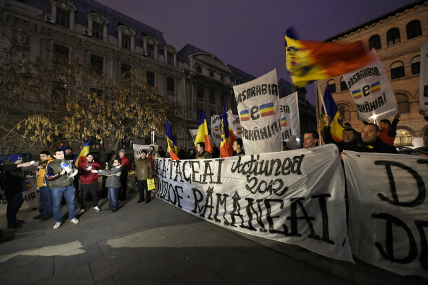 protest Iohannis - Agerpres