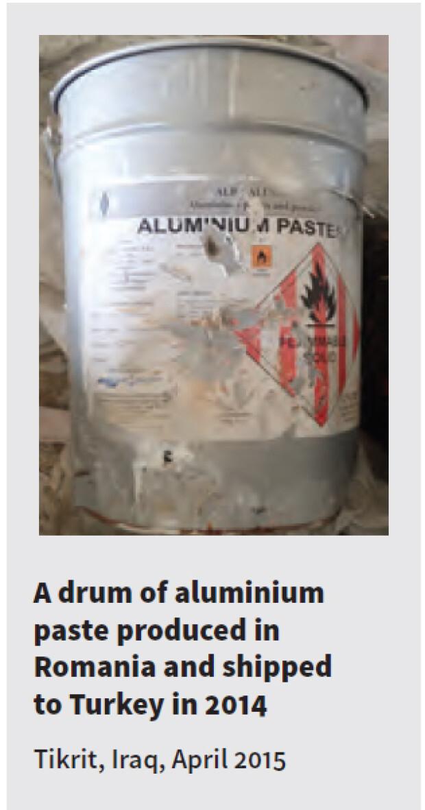container cu pasta de aluminiu