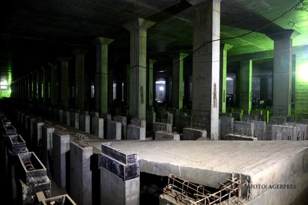 Santierul magistralei de metrou M4 Parc Bazilescu - Depoul Straulesti.