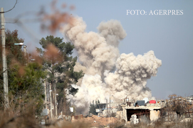 bombardament rusesc asupra pozitiilor al-Nosra