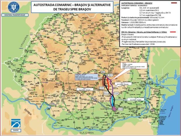 harti autostrazi guvern Comarnic-Brasov