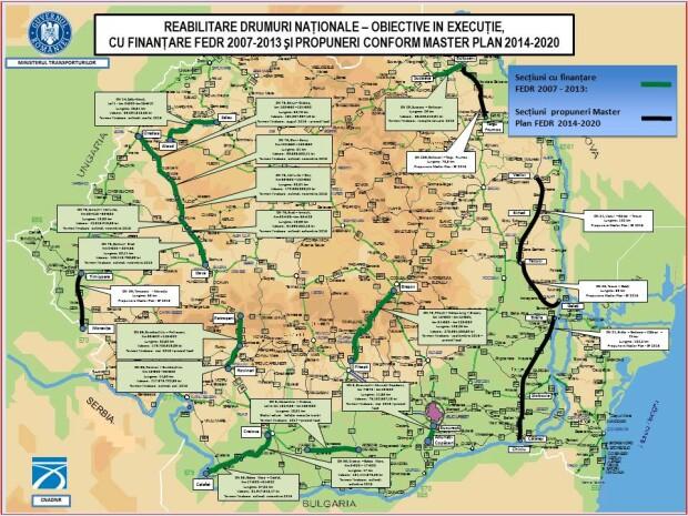 harti autostrazi guvern drumuri in executie
