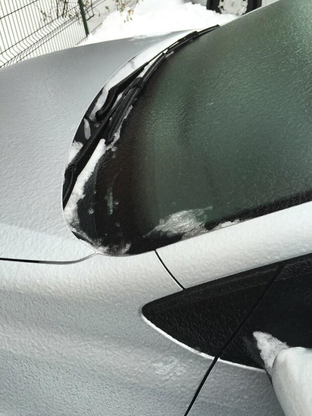 Masini afectate de freezing rain