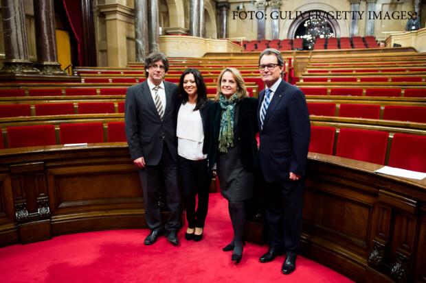Marcela Topor, Carles Puigdemont, Artur Mas, Helena Rakosnik