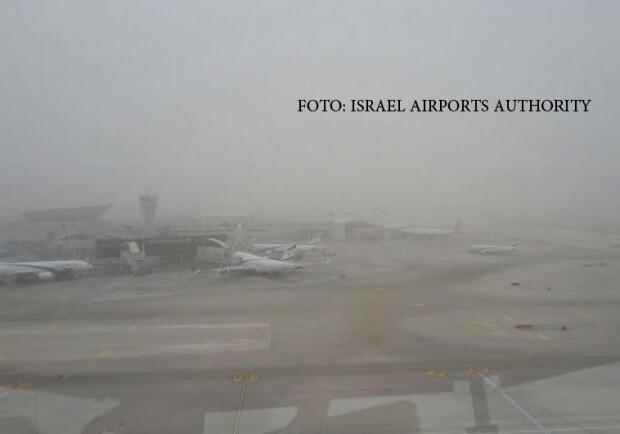 furtuna de nisip aeroportul ben Gurion