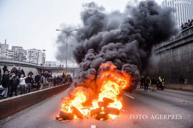 protest al taximetristilor in Paris