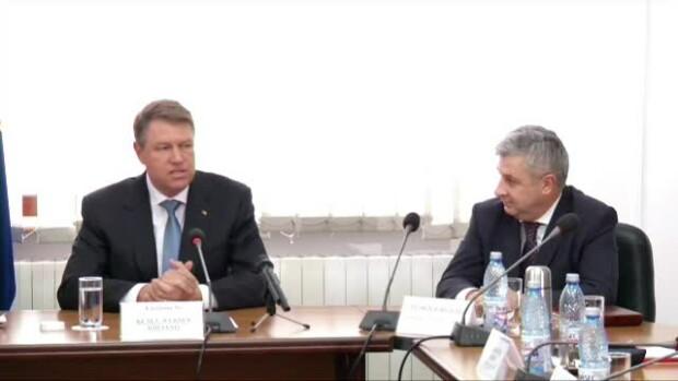 Klaus Iohannis si Florin Iordache la CSM