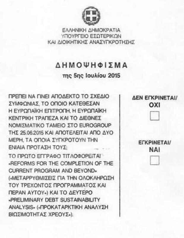 buletin de vot Grecia