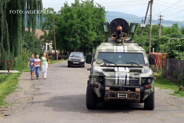 forte de ordine ucrainene in Transcarpatia, Munkacevo FOTO: AGERPRES