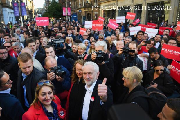 Jeremy Corbyn in campania electorala