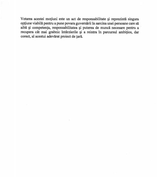 Text motiune cenzura