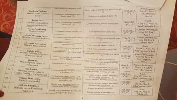 Program audieri ministri
