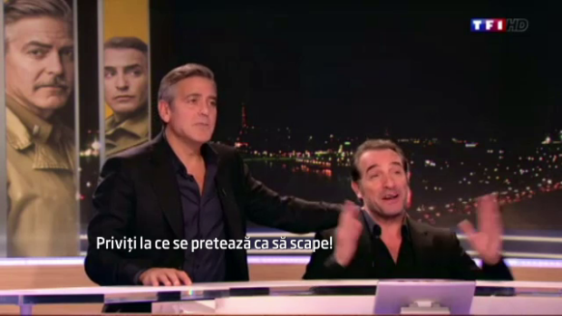 George clooney i a convins pe francezi ca are umor vedeta for Jean dujardin sex
