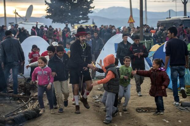 refugiati, granita macedoania - grecia - 2