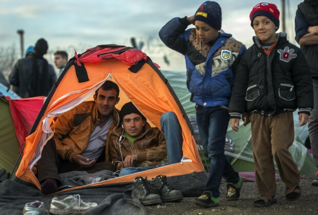 refugiati, granita macedoania - grecia - 3