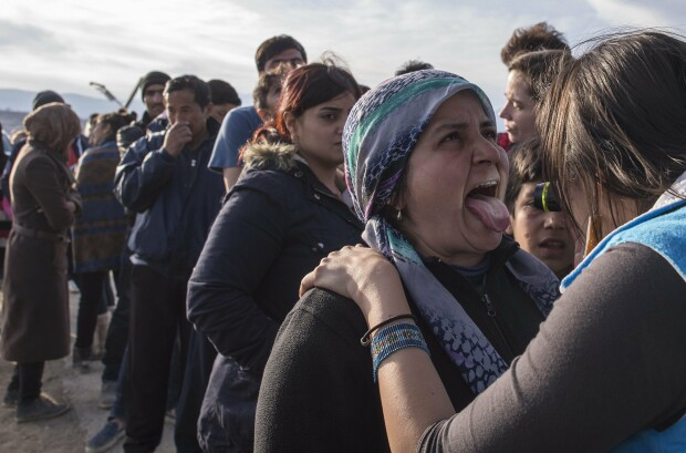 refugiati, granita macedoania - grecia - 5