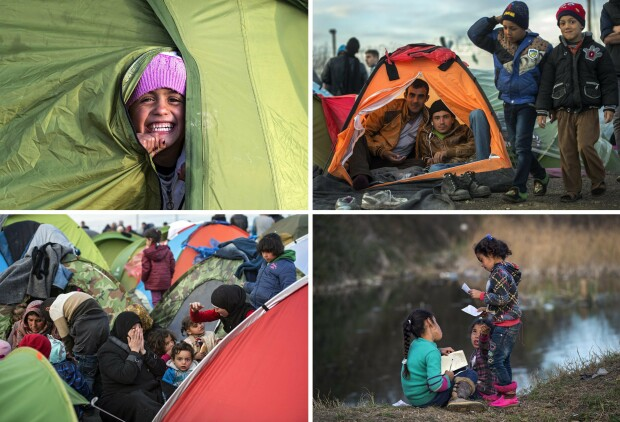 refugiati, granita macedoania - grecia - 6