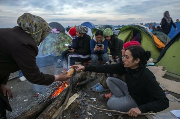 refugiati, granita macedoania - grecia - 7