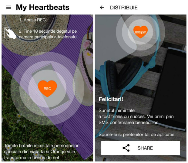 (P) Review My Hearbeats. Aplicatia cu care trimiti dragoste si castigi trafic de internet pe mobil