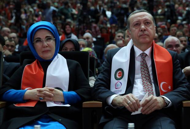 Emine Erdogan, Recep Erdogan - AGERPRES