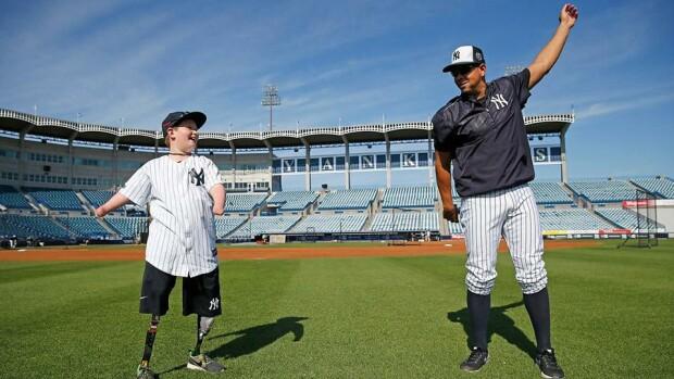 Landis jucand la Yankees