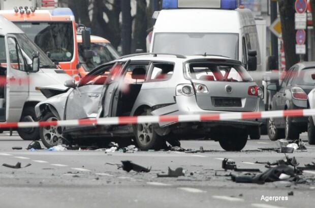 Masina care a explodat in Berlin