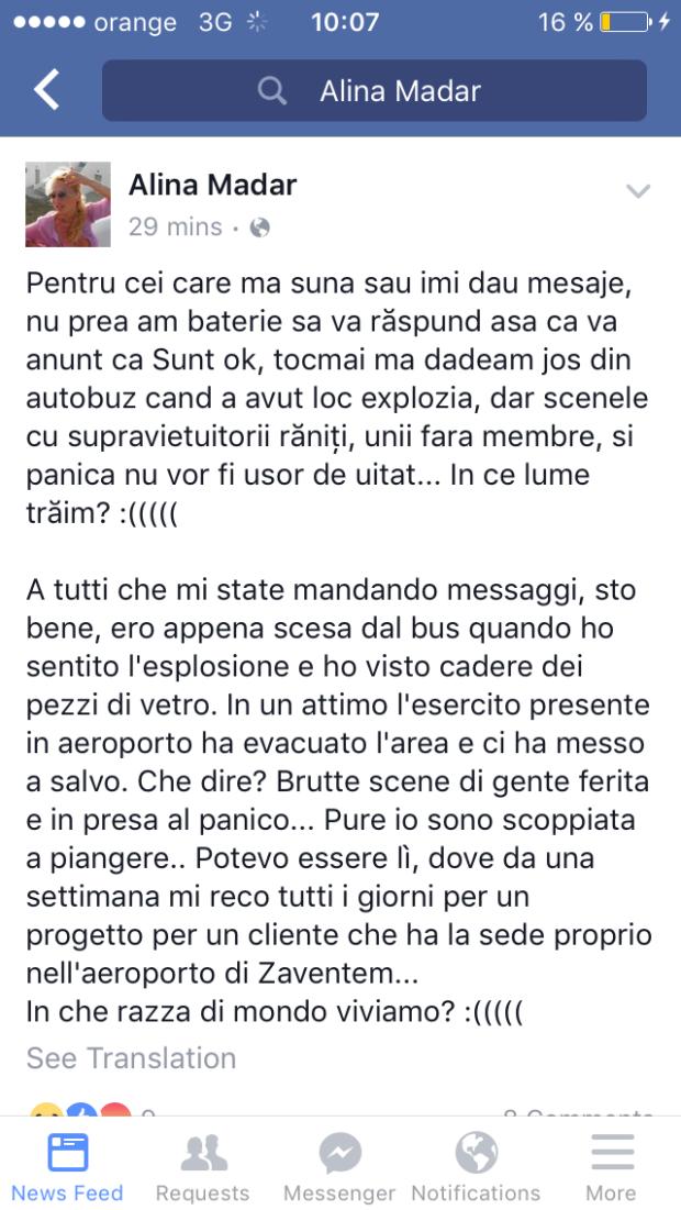 mesaj Bruxelles, Alina Mardar