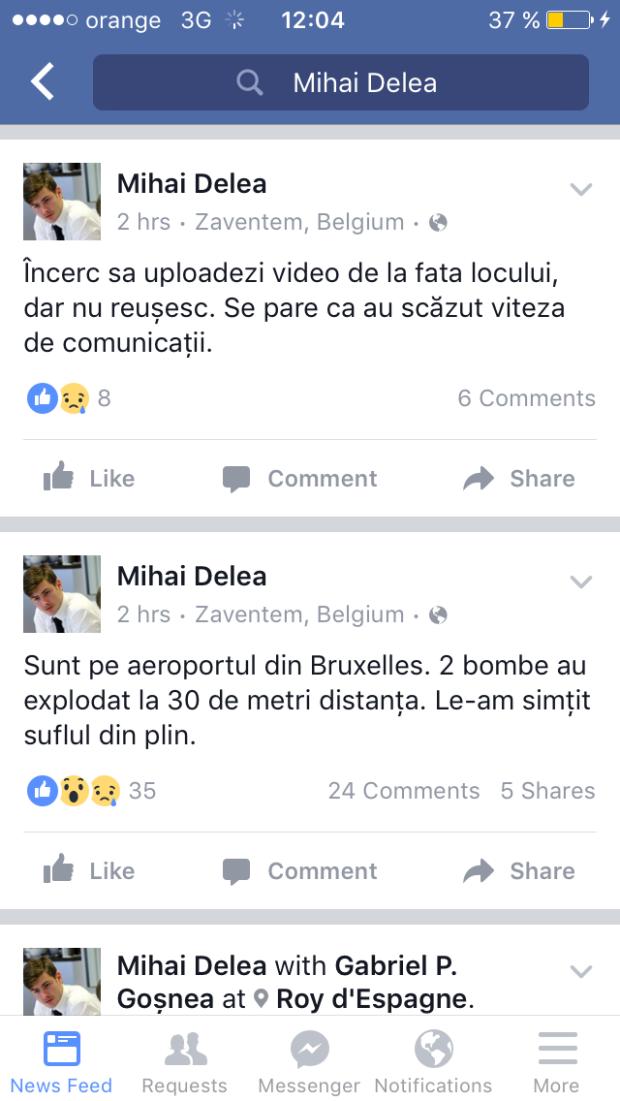 Mihai Delea, mesaj Bruxelles