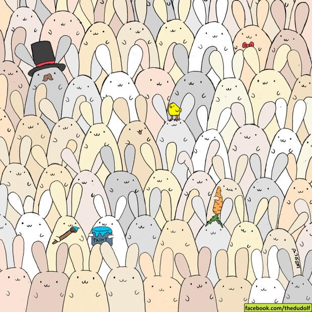 puzzle Dudolf oua iepuri Paste