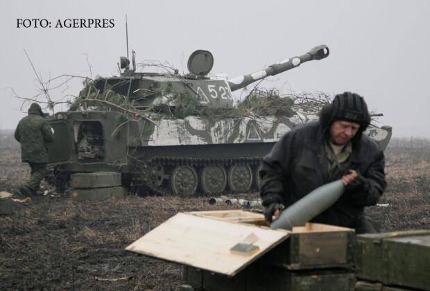 exercitiu militar al rebelilor separatisti din estul UCrainei