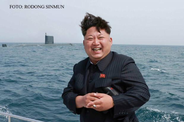 Kim Jong Un la testul rachetei submarine