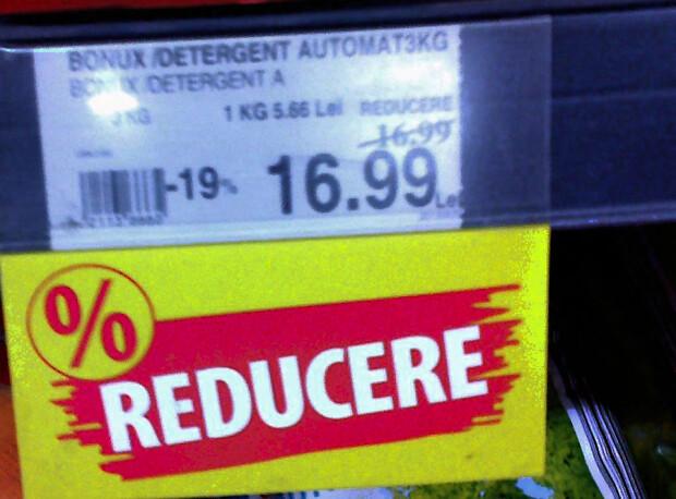 Reducere falsa la detergenti