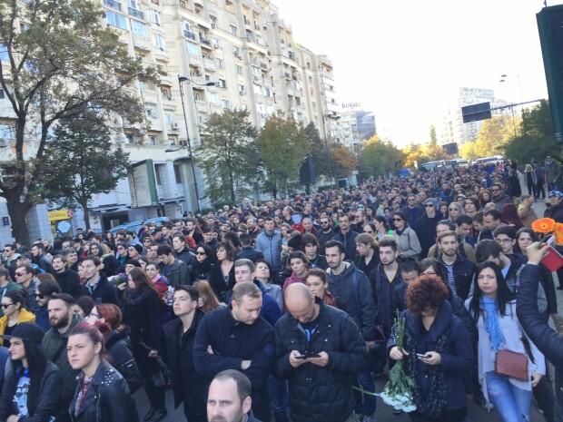 marsul tacerii, capitala