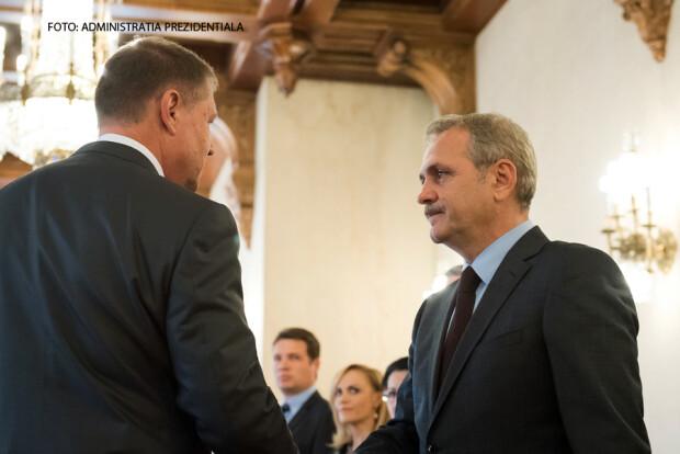 Iohannis si Dragnea, consultari la Cotroceni