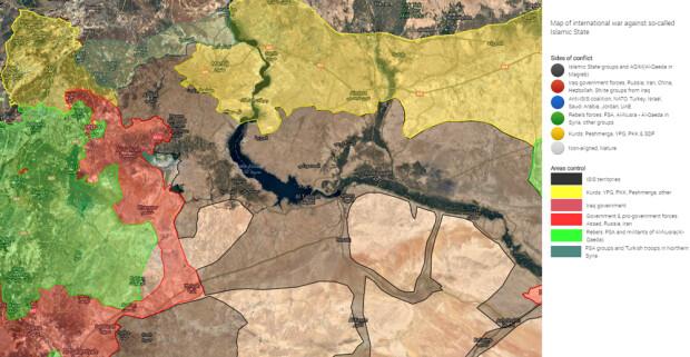 harta situatie siria 6 noiembrie