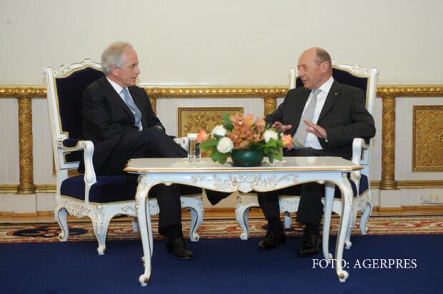 Presedintele Traian Basescu l-a primit, la Palatul Cotroceni, pe Bob Corker, membru al Senatului Statelor Unite ale Americii