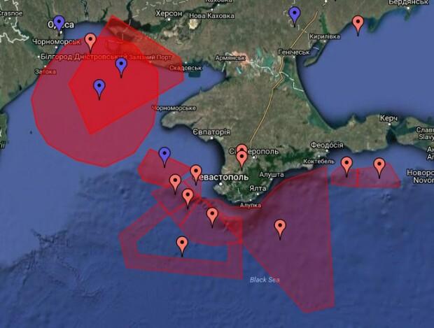 harta zona test cu rachete Ucraina