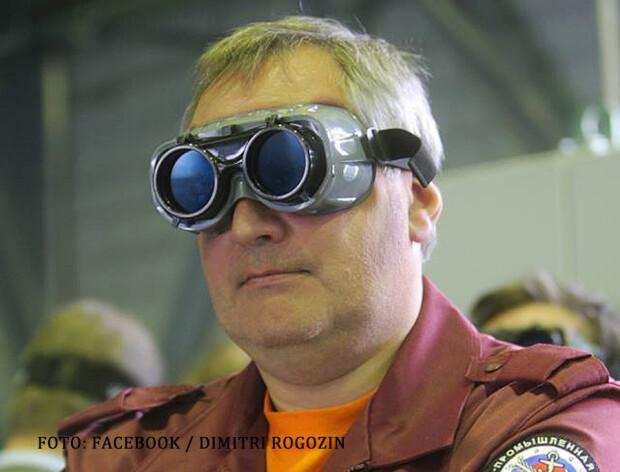 Dimitri Rogozin cu ochelari ciudati pe fata