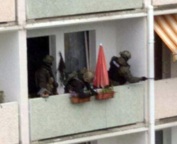 politie in Chemnitz