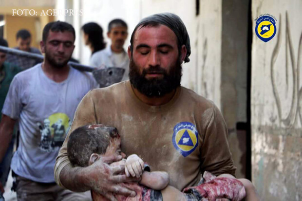 Siria, copil salvat in Alep