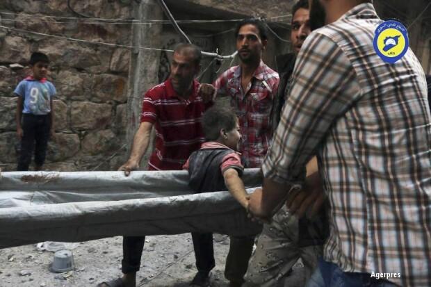 bombardamente in Alep