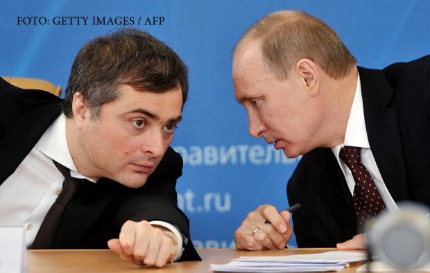 Vladislav Surkov si Vladimir Putin
