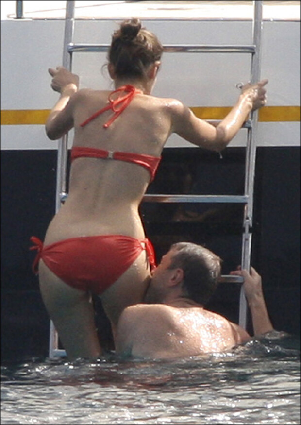 Роман Абрамович и Дарья Жукова, 11 января 2008г.