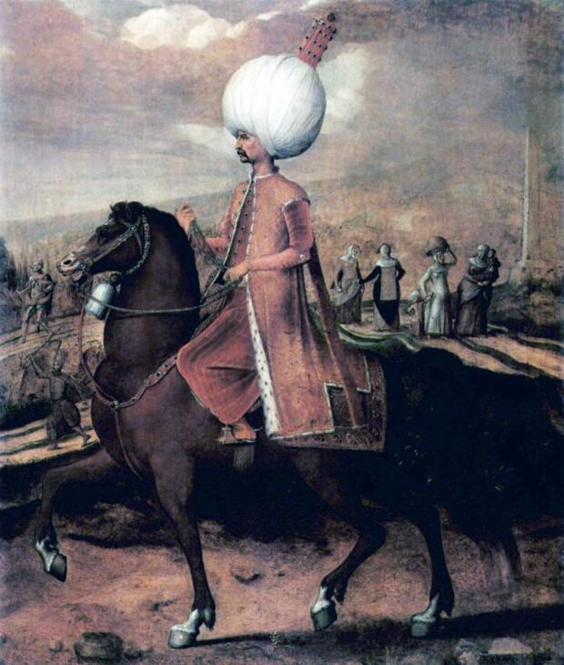 Suleiman Magnificul. Pictura de Hans Eworth :