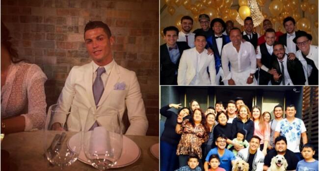 Cum si-au petrecut cei mai tari fotbalisti din lume Revelionul: Ronaldo, alaturi de o femeie misterioasa; Neymar si Alexis au petrecut in familie