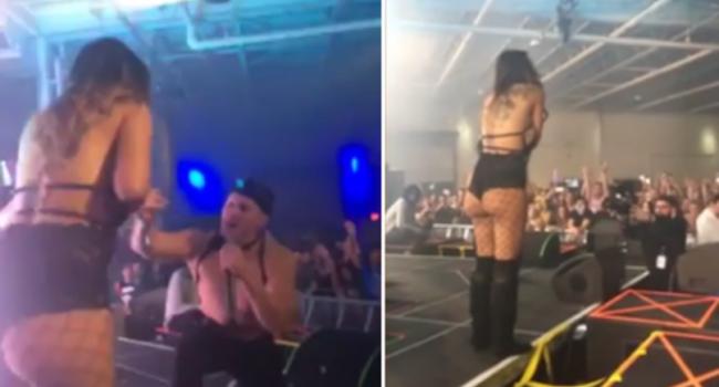 Si-a cerut iubita in casatorie pe scena unui concert, dar ce s-a intamplat in momentul urmator a devenit viral