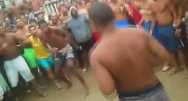Imagini incredibile dintr-o inchisoare din Brazilia! Batai organizate intre detinuti: