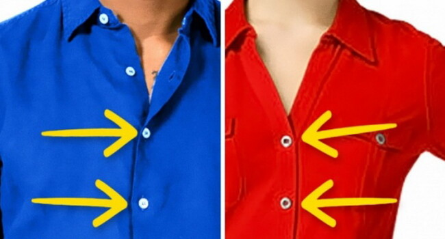 De ce au camasile barbatilor nasturii pe partea dreapta, iar cele ale femeilor pe partea stanga