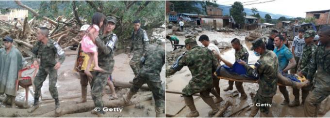 Columbia, Mocoa, alunecare de teren, cover