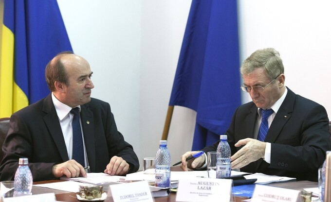 Tudorel Toader (stg.), Minister of Justice, and Augustin Lazar (PhD), Attorney General of Romania